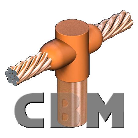 Połączenia CBM UD: uziom pionowy-drut/linka