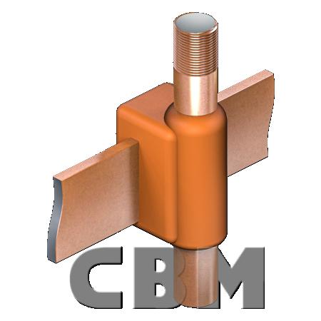 Połączenia CBM-UP: uziom pionowy-bednarka