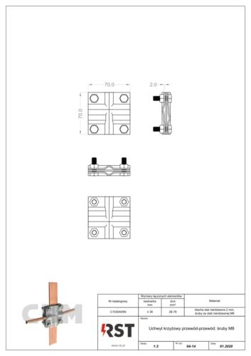 Uchwyt krzyżowy przewód-przewód CBM C1030405N