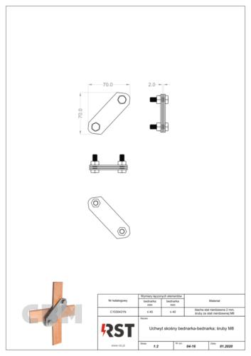 Uchwyt skośny bednarka-bednarka CBM C1030431N