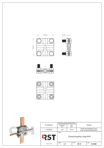 Uchwyt krzyżowy przewód-przewód CBM C1030442N