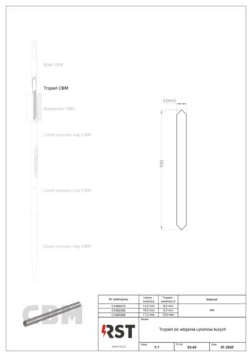 Trzpień do wbijania uziomów kutych CBM C10803x5