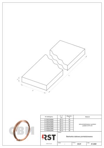 Bednarka stalowa pomiedziowana StCu CBM C110027x