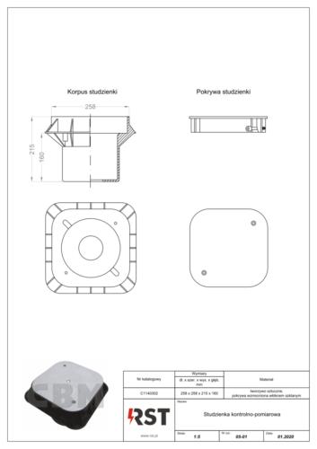 Studzienka kontrolno-pomiarowa CBM C1140302