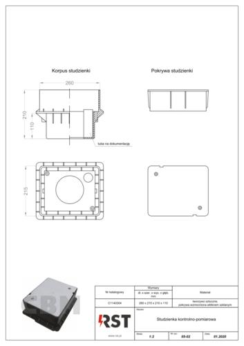Studzienka kontrolno-pomiarowa z miejscem na dokumentację CBM C1140304